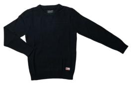 Petrol:  gebreide trui zwart