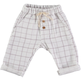 Petit Indi: Pants Wit - Geruit