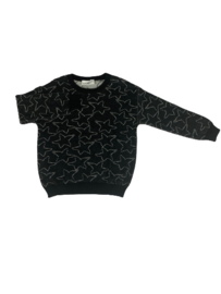 Little Man Happy: Sweater with stars - Donker Grijs