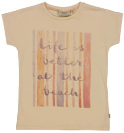 Wheat: T-shirt Beachlife - alabaster