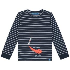 Smitten Organic: Longsleeve - Blue Stripes