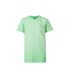 Petrol: T-shirt kleurverloop logo groen B-SS-TSV658