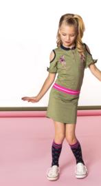 B.Nosy: Meisjes Jurkje met borduursel - Groen