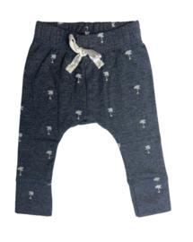 Baby deLuxe: broekje palmboom- donker blauwBDL
