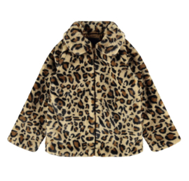 Name it: Faux Fur Leo Jacket - Tannin