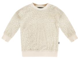 House of Jamie: Crewneck Sweater - Cream Leopard