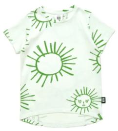 Little Man Happy: Green Sun T-shirt - Lichtgroen
