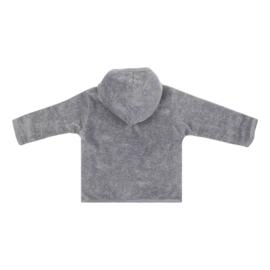 Baby deLuxe: Capuchon vestje teddy grijs - BDL09