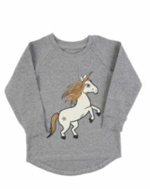 Dear Sophie: grey Unicorn Jersey Longsleeve
