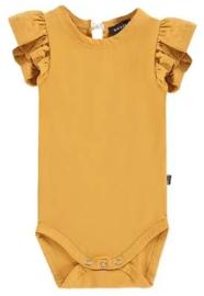 House of Jamie: Ruffled Bodysuit - Honey Mustard