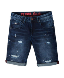 Petrol: Shorts verfspetters - Denim blauw