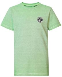 Petrol: T-shirt logo gestreept  - Neon groen