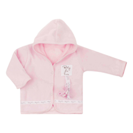 Baby deLuxe: Capuchonvest teddystof roze - BDL09