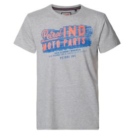 Petrol: T-shirt opdruk - Grijs