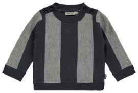 Imps&elfs: Trui glad gebreid striped blue