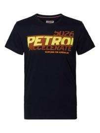 Petrol: T-Shirt rubberen logo - Zwart