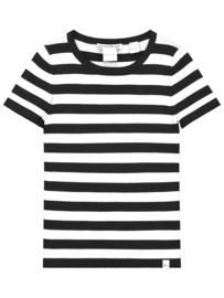 Nik&Nik: Jolie Top Short Sleeves - Black/Offw