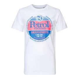 Petrol: Jongens T-shirt - Bright White