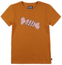 CarlijnQ: Candy T-shirt - oranje - snoepje