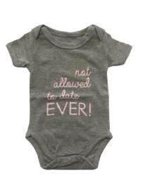 Baby deLuxe: Romper grijs/ licht roze - BDL