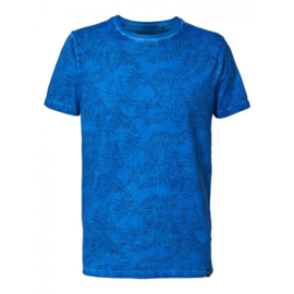Petrol: All over print T-shirt - Blauw