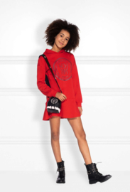 Nik & Nik: Sweat dress candy red