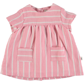 Petit Indi: Dress Stripes Pink 8.21