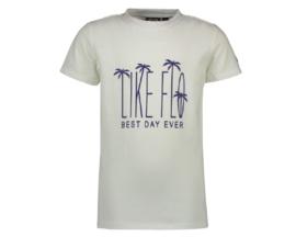 Like Flo: T-shirt white blue