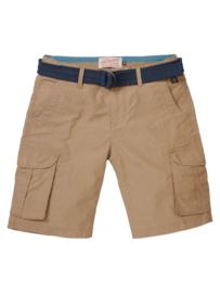 Petrol Industries: Shorts met riem -  dark tobacco