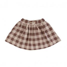Dear Sophie: Beige Checker Skirt