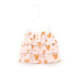 Little Man Happy Hearts Skirt - roze