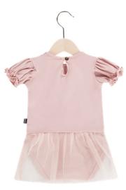 House Of Jamie: Bodysuit Dress - Powder Pink