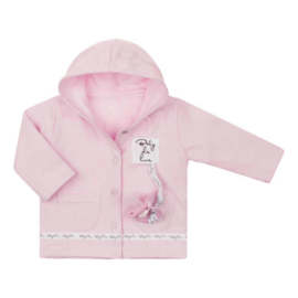 Baby deLuxe: Zacht vestje met speenkoord roze - BDL10