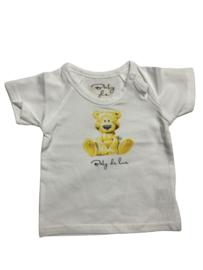 Baby de Luxe: wit T-shirt beertje