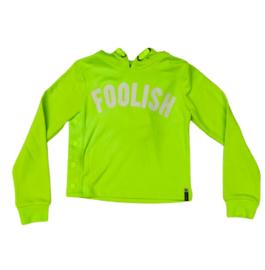 Retourjeans: hoodie - Ashley - neon yellow