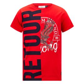 Retour: T-shirt Elwin - 4051 Red
