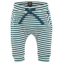 Babyface: Jongens Pants Gestreept - Emerald Groen