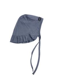 House of Jamie: Ruffled Bonnet - Vintage grey