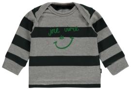 Imps&elfs: T-shirt long sleeve forest green stripe combo