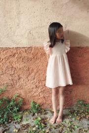 Petit Indi: Broderie jurkje roze