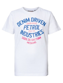 Petrol: Jongens Denim Driven T-Shirt - Bright White