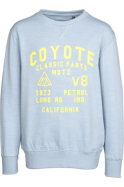 Petrol: Sweater coyote - Licht blauw