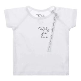 Baby de Luxe: wit T-shirt met speenkoord