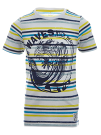 Name It: Jongens FONZO T-shirt - Bright White/Blue Print