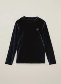 Vingino: Velvet Longsleeve Jerani - Dark Blue
