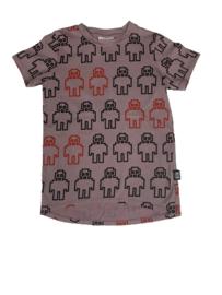 Little Man Happy: T-shirt dress robots - Paars