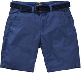 Petrol: Belted chino shorts - Blue