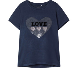Name It: Meisjes FALBA T-shirt - Dark Sapphire