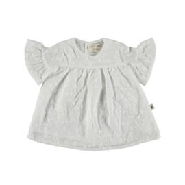 Petit Indi: Dress Flowers - White