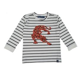 Smitten Organic: Longsleeve - Red Leopard
